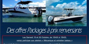 """Les """"Pack Evinrude"""", du 16 au 26 Octobre chez Xtrem Marine"""